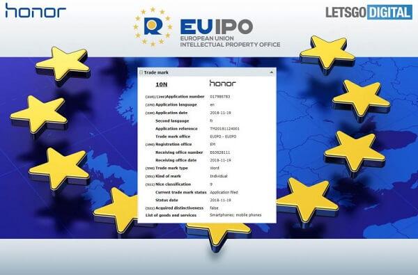 هونور تسجل 9 نماذج جديدة للهواتف الذكية في EUIPO