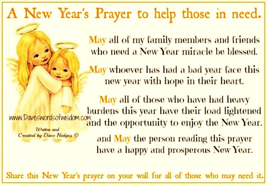 Daveswordsofwisdom.com: A New Year\'s Prayer to help those in need.