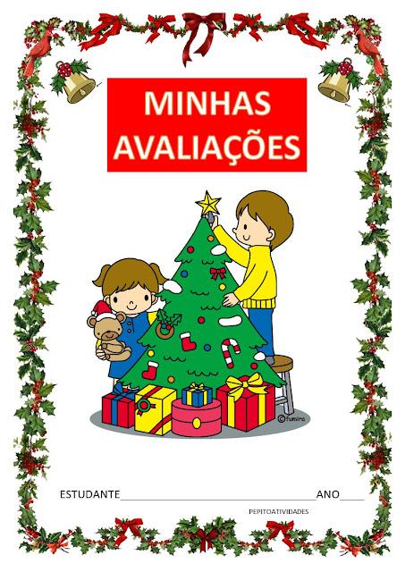 Projeto Natal - capas avaliação IV bimestre.
