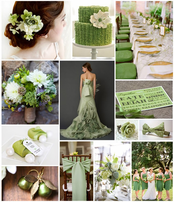 Wedding Theme White And Green: Sage Green Wedding Accents