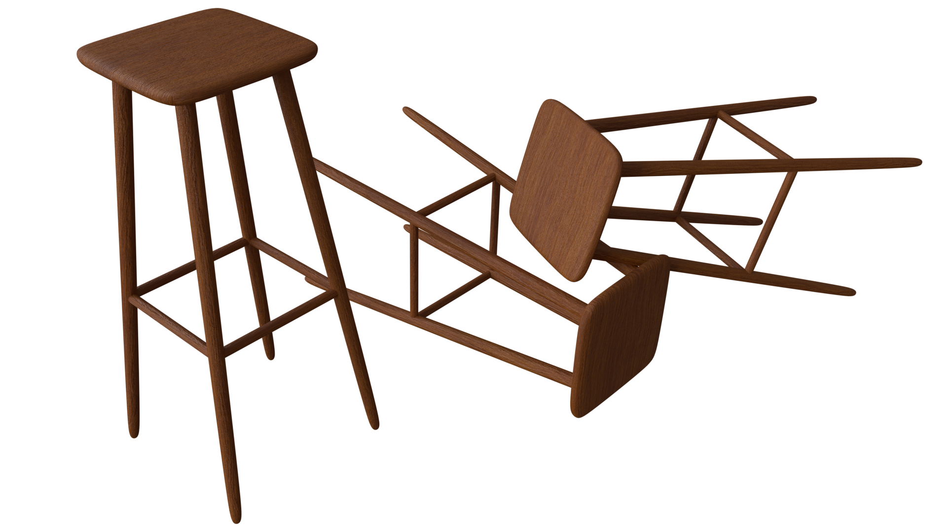 Free 3D Bar Stool CC0 3DS - Free 3D Models Under Public Domain