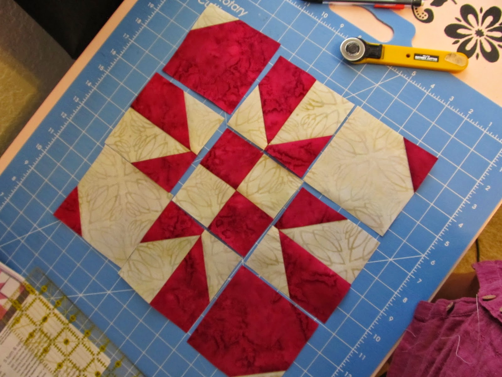 Block quilt magazine pattern