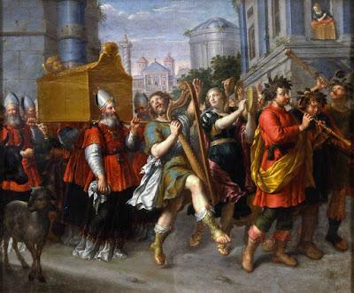 DAvid danzando frente al Arca