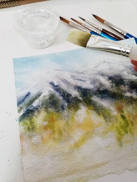 Watercolor ground used for adding whites to a watercolor painting.