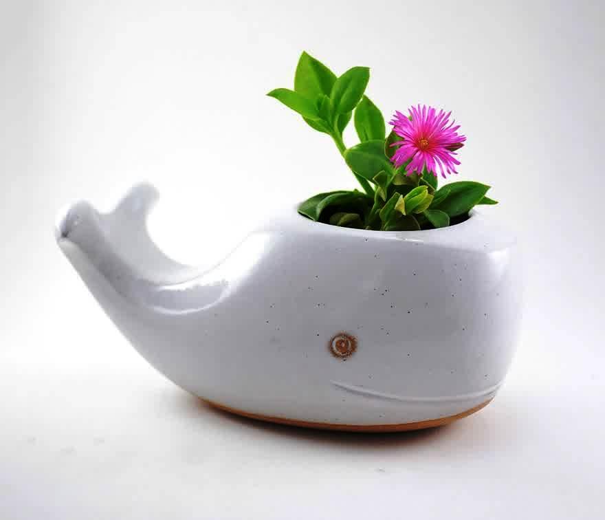 cute ceramic planter art craft gift ideas