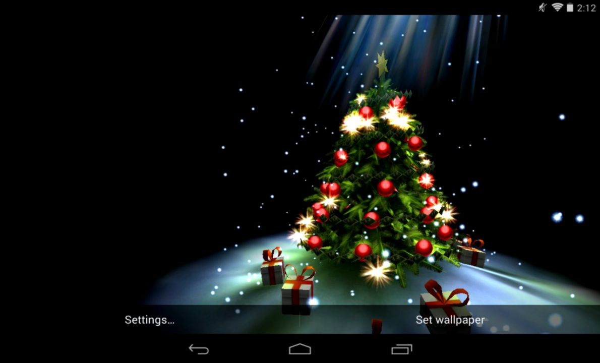 live christmas wallpaper for android