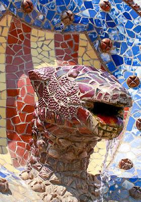 La serpiente de la fuente del Park Güell