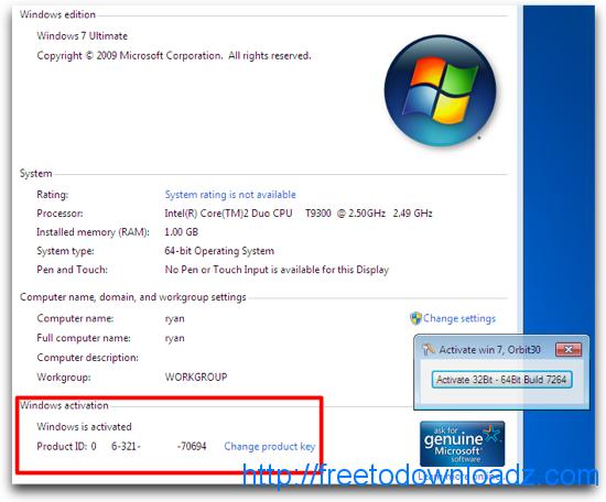 windows 7 genuine serial