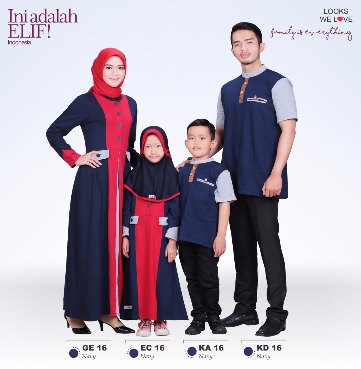 Baju muslim terbaru 2017 online elif sarimbit edisi Baju gamis elif