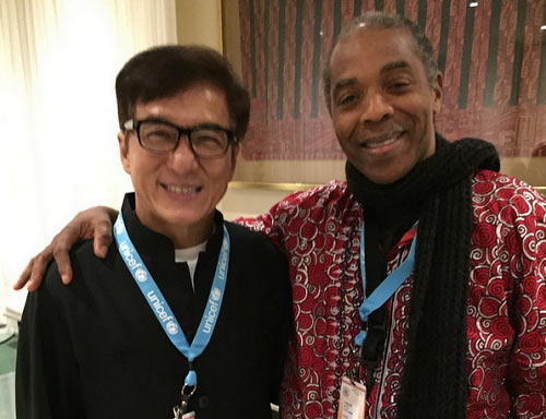 Femi Kuti hangs out with Jackie Chan