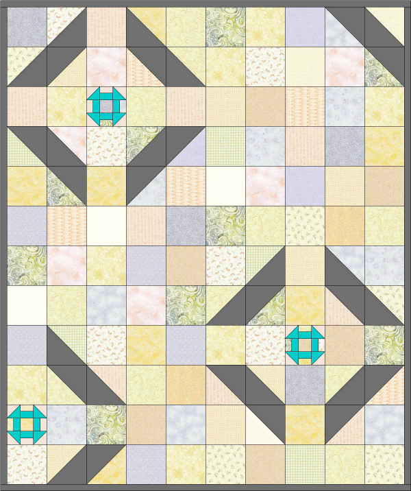 Little Churn Quilt Design | DevotedQuilter.blogspot.com