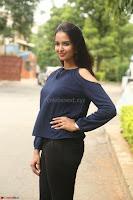 Poojita Super Cute Smile in Blue Top black Trousers at Darsakudu press meet ~ Celebrities Galleries 051.JPG