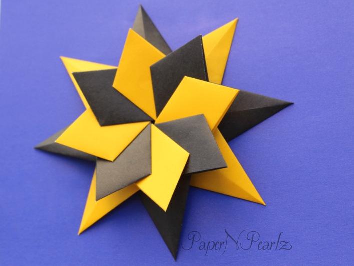 8 point origami modular star by NightRiderAlice on DeviantArt | 532x707