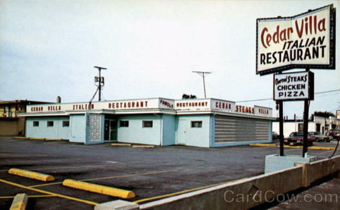 Bradys Bunch Of Lorain County Nostalgia Cedar Villa Italian Restaurant