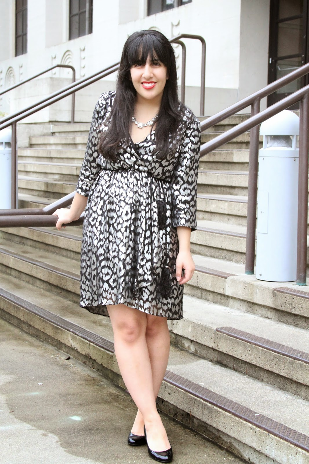 Silver Leopard Print Dress Thred Up Review