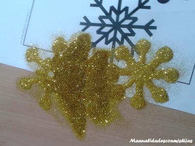 Estrellas-brillantina-adornar-navidad-ventana