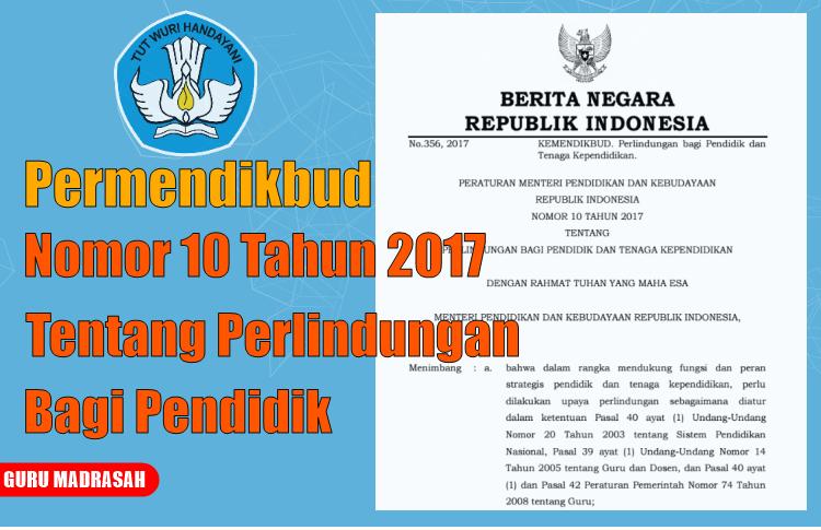 Hasil gambar untuk Permendikbud Nomor 10 Tahun 2017