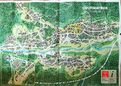 Map of Courmayeur.