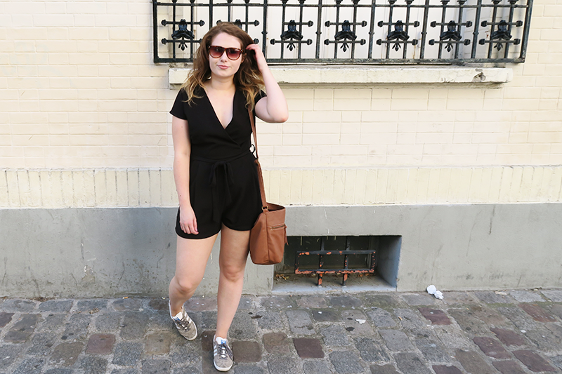 Paris Summer Sightseeing Outfit What To Wear Travelling New Look Black Playsuit | Colours and Carousels - Scottish Lifestyle, Beauty and Fashion blog