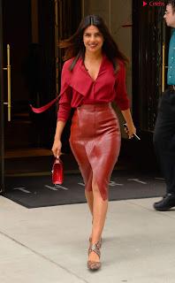 Priyanka Chopra in Red Leather Jacket ~ .xyz Exclusive 005