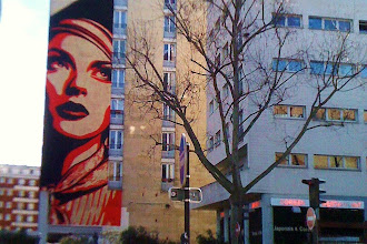 Sunday Street Art : Obey - Shepard Fairey - Rise above rebel - avenue Jeanne d'Arc - Paris 13