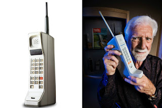 martin cooper with the invented mobile phone
