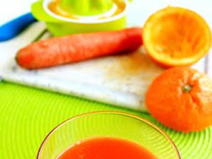 Jus d'orange et de carotte