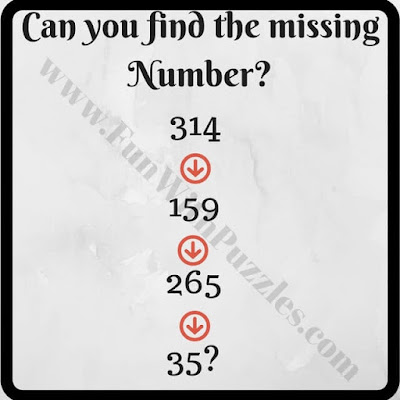Can you find the missing number in this Maths Sequence?