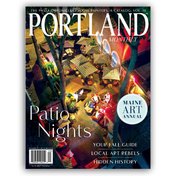 Portland, Maine USA Photo by Corey Templeton. One of my photos above Timber Steakhouse & Rotisserie in the Old Port has the honor of being on the cover of Portland Magazine this month.
