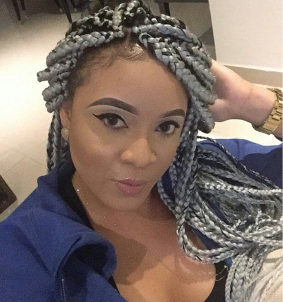 Stella Dimoko Korkus.com Coloured Braids/Weaves Trending Now?