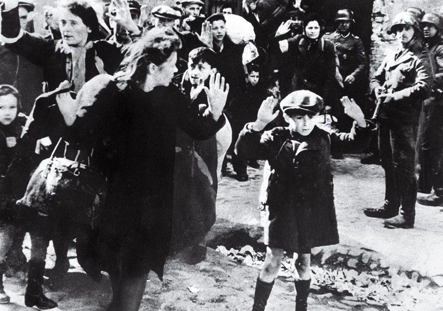 Jewish Boy Surrenders In Warsaw, 1943