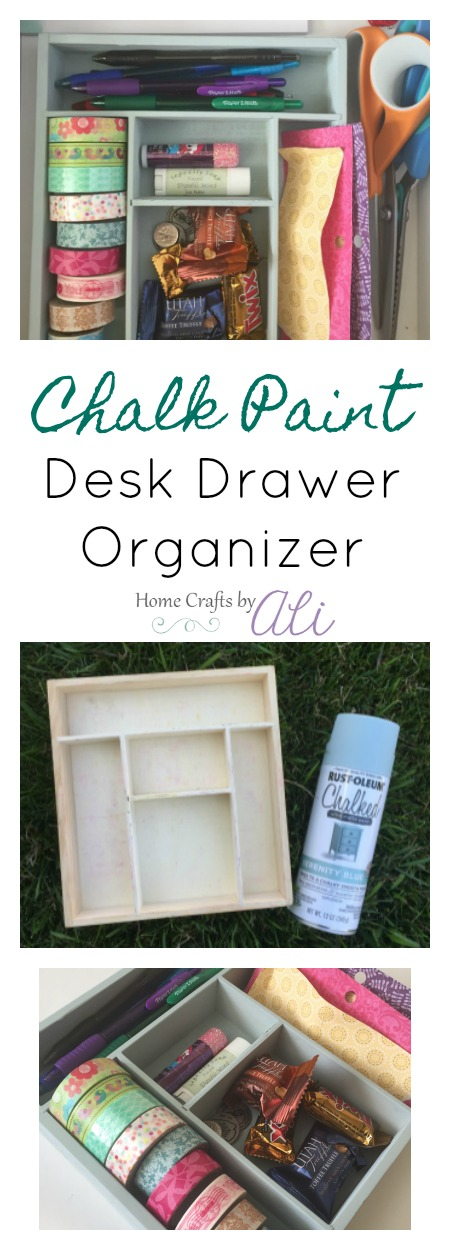 easy step by step tutorial with photos to makeover a wood drawer organizer