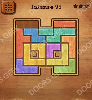 Cheats, Solutions, Walkthrough for Wood Block Puzzle Intense Level 95