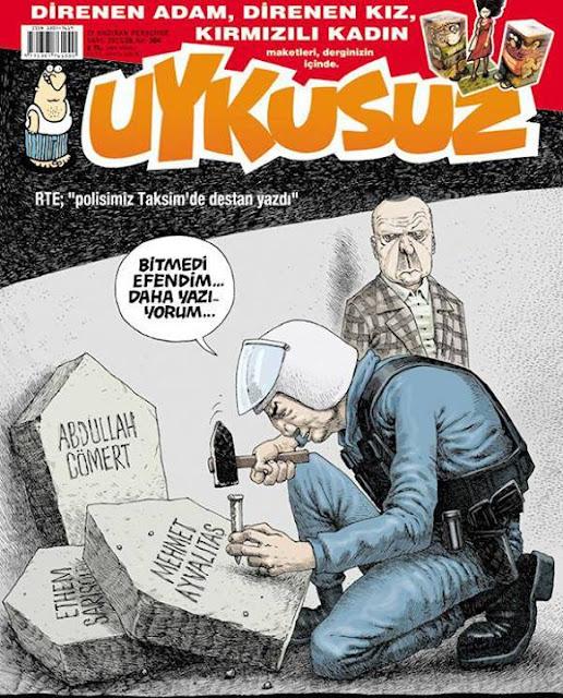 Uykusuz Dergisi | 27 Haziran 2013 Kapak Karikatürü