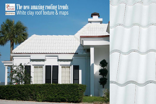 Amazing White Clay Roofs textures seamless and maps