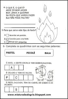 Avaliação português-festa junina