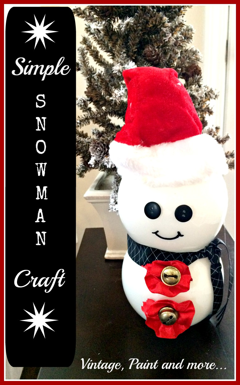 Vintage, Paint and more... snowman made from dollar tree votives and pet supplies