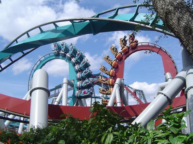 Dueling Dragons no Islands of Adventure em Orlando