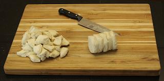 monkey bread on wood grain cutting board