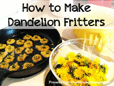 How to Make Dandelion Fritters