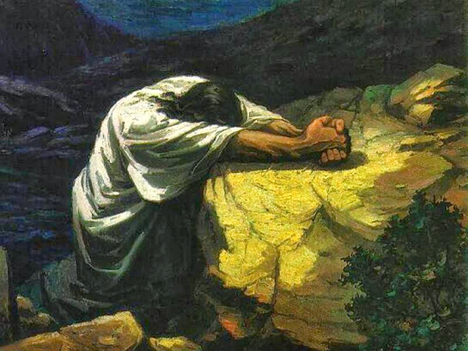 Fully devoted station one praying in gethsemane - Jesus in the garden of gethsemane ...