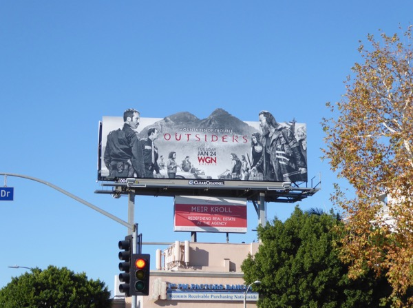 Outsiders season 2 extension billboard