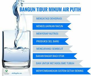 Kelebihan sebalik minum air kosong selepas bangun tidur