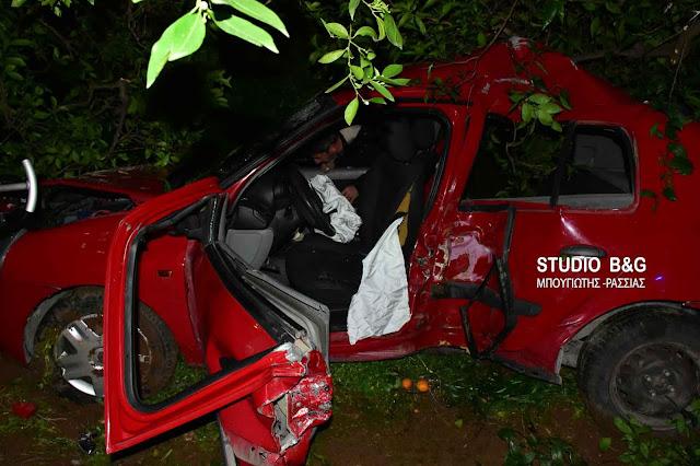 Τροχαίο ατύχημα με τραυματία μια νεαρή κοπέλα στον κόμβο Παναριτίου στην Αργολίδα (βίντεο)