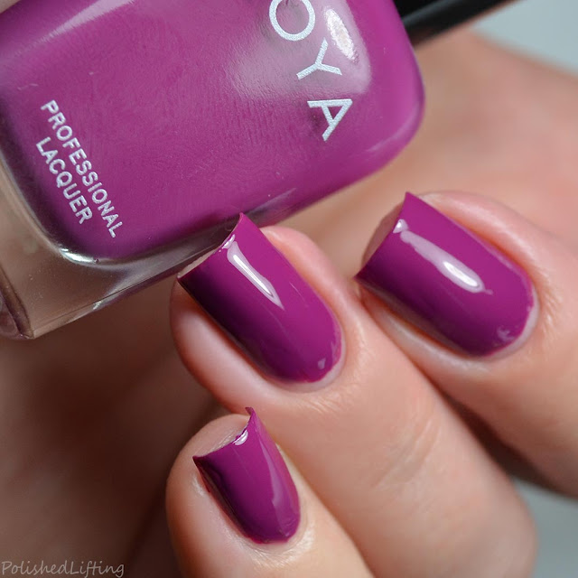 bright purple nail polish