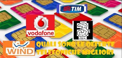 Quali sono le offerte telefoniche migliori: TIM Vodafone Tre Wind
