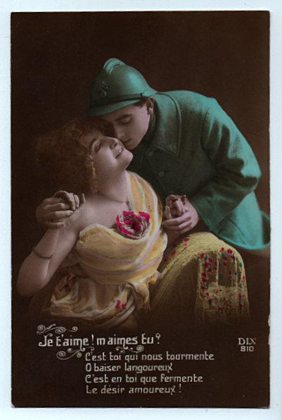 Fleur Et Lumiere Carte Postale Ancienne Magnifique Et Rare Soldat