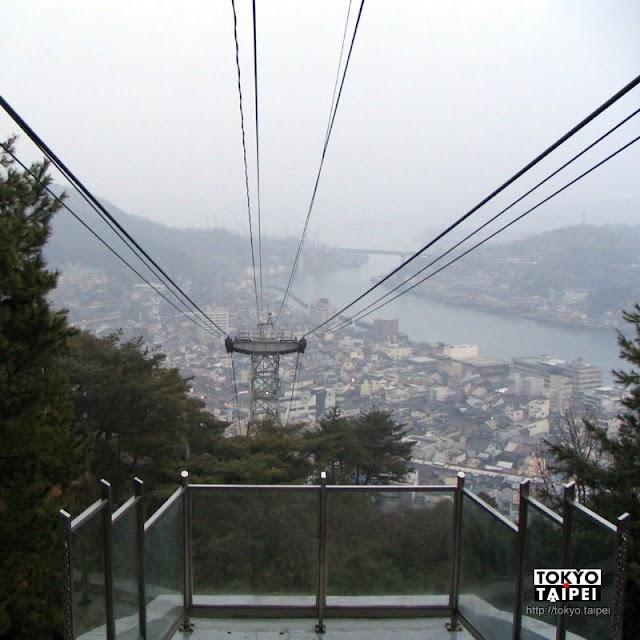 【千光寺山纜車】搭纜車到山頂 遠眺瀨戶內海景色