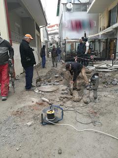 Δήμος Κατερίνης: Ανακατασκευή πεζοδρόμου στην οδό Ερμού