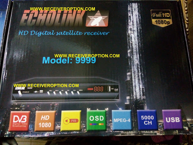 ECHOLINK MODEL 9999 HD RECEIVER POWERVU KEY FIXED NEW SOFTWARE